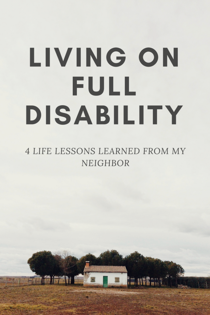 Living on full disability. #lifelessons #happiness