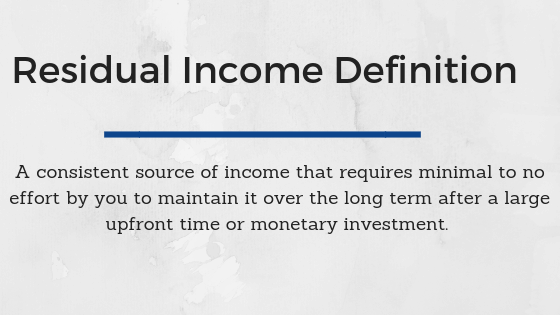 Residual Income Definition